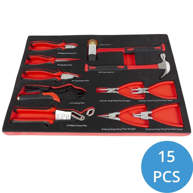 Afbeelding van 15 delige tangenset in gereedschapsmodule