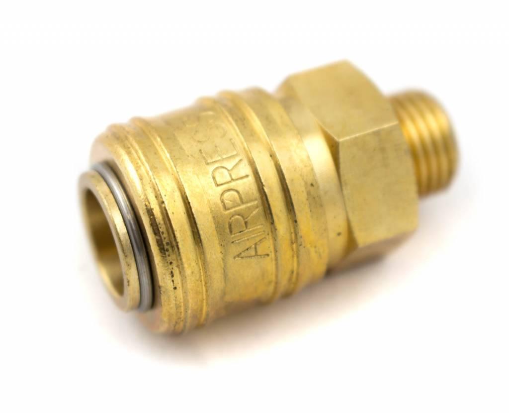 """Afbeelding van Airpress compressor snelkoppeling 1/4"""" uitwendig"""