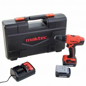 Maktec MT070E 14.4V Li-Ion boormachine (2x 1.1Ah accu) in koffer