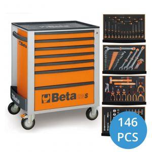 Beta gevulde gereedschapswagen C24S/7 146-delig gereedschapdeal prijstechnisch