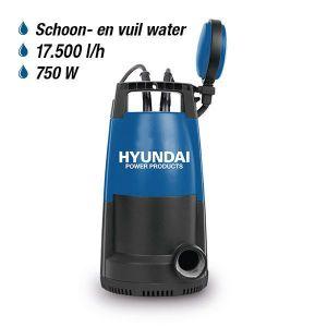 Hyundai Dompelpomp 750W Schoon/Vuil