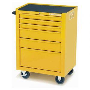 Bahco gereedschapswagen leeg 6-laden geel wieltjes