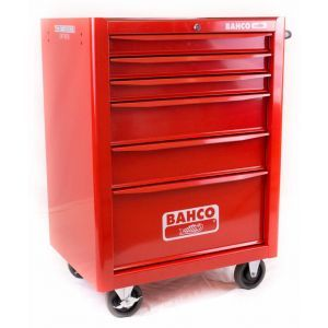 Bahco gereedschapswagen leeg 6-laden rood