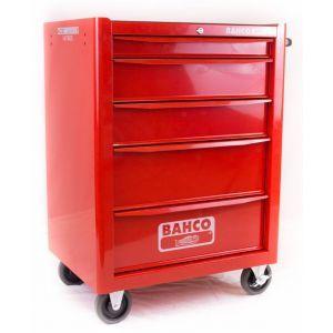 Bahco gereedschapswagen leeg 5-laden rood