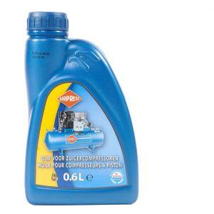Airpress olie voor zuigercompressoren 0,6 liter blauw oil