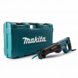 MakitaReciprozaag 230V gereedschapskoffer koffer groen zaagbladenset meenemen
