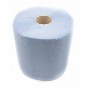 Euro industriepapier blauw 190 m x 26 cm