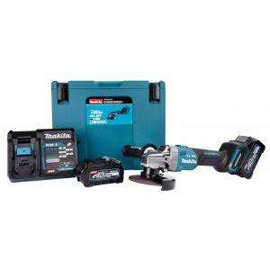 Makita GA005GM201 40V accu 125 mm haakse slijper set 2x 4.0Ah in Mbox