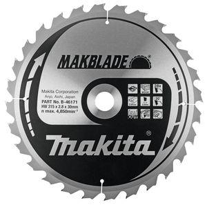Makita MAKBLADE tafel-, afkort- en verstekzaagblad 190/216/255/260/305/315 mm