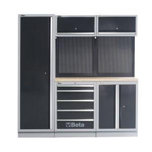 Beta complete werkplaatsinrichting houten werkblad