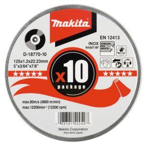 Makita doorslijpschijf inox 115 / 125 mm 10 stuk