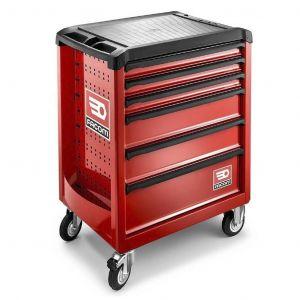 Facom ROLL.6M3 gereedschapswagen 6 laden leeg rood gereedschapdeal prijstechnisch