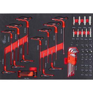 Torxsleutelset met T-greep en doppenset 46-delig gereedschapdeal prijstechnisch