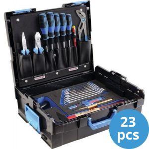 Gedore gereedschapskoffer gevuld 23-delig schroevendraaier blauw