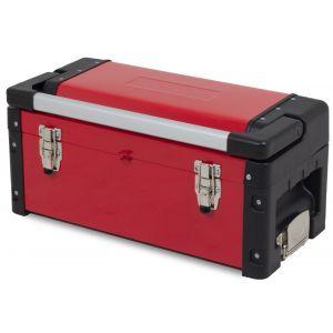 Ragnor gereedschapskoffer met groot compartiment en inlegbak rood gereedschapdeal prijstechnisch