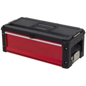 Ragnor gereedschapskoffer met groot compartiment rood