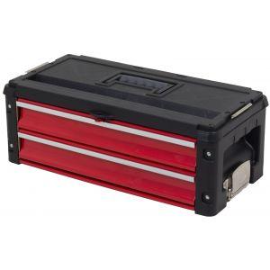 Ragnor gereedschapskoffer met twee compartimenten rood gereedschapdeal prijstechnisch