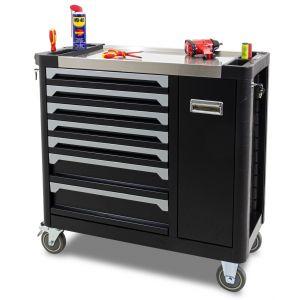 Ragnor gereedschapswagen leeg met extra compartiment 7 laden