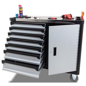 Ragnor extra brede gereedschapswagen leeg 7-laden grijs prijstechnisch gereedschapsdeal