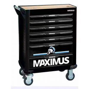 Maximus gereedschapswagen gevuld 'Crixus' 315-delig + Maximus elektrisch gereedschap