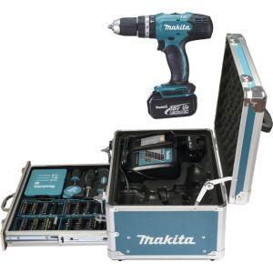 Makita DHP453RFX2 18V accu klopboor- en schroefmachine set 2x 3.0Ah met accessoire in koffer