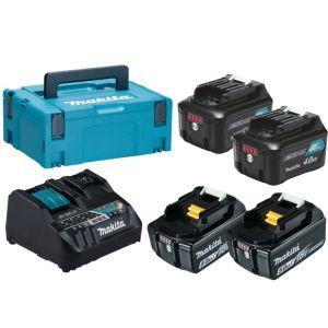 Makita 199029-2 powerpack CXT 12 V Max / LXT 18 V 2x 4.0 Ah + 2x 5.0 Ah in Mbox