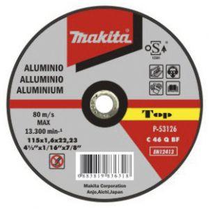 Makita doorslijpschijf aluminium 125 / 230 mm 1 stuk