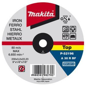 Makita doorslijpschijf staal 125 / 180 / 230 / 300 / 355 mm 1 stuk