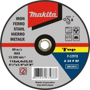 Makita afbraamschijf metaal 125 / 150 / 180 / 230 mm 1 stuk