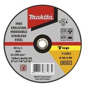 Makita doorslijpschijf inox 125 / 230 mm 1 stuk
