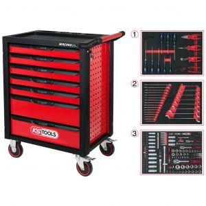 KS Tools gereedschapswagen Racingline gevuld 215-delig 7 lades rood