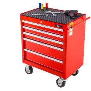 Ragnor gereedschapswagen 5 laden - rood