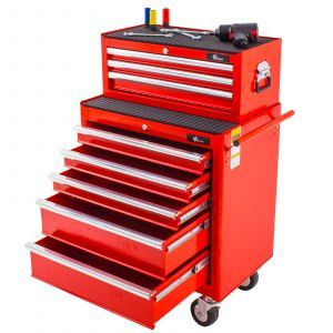 Ragnor gereedschapswagen set 8 laden - rood | Lades open