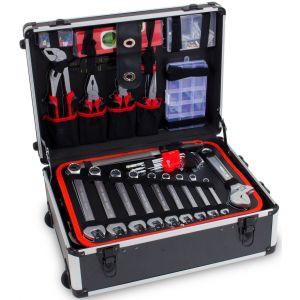 Ragnor gereedschapstrolley gevuld 175-delig gereedschapskoffer prijstechnisch gereedschapdeal