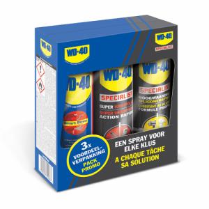 WD-40 3 in 1 set kruipolie spray, siliconenspray en Smart Straw spray