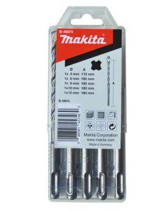 Makita B-49074 5-delige SDS-PLUS V-PLUS betonborenset 5/6/8/10/12 mm